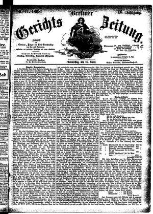 Berliner Gerichts-Zeitung vom 16.04.1868