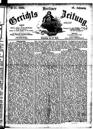 Berliner Gerichts-Zeitung vom 23.04.1868