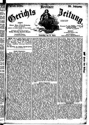 Berliner Gerichts-Zeitung vom 30.04.1868