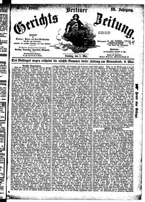 Berliner Gerichts-Zeitung vom 05.05.1868