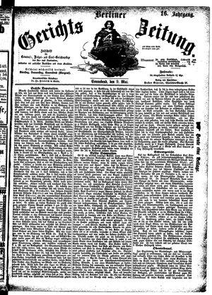 Berliner Gerichts-Zeitung vom 09.05.1868