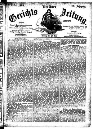 Berliner Gerichts-Zeitung vom 12.05.1868