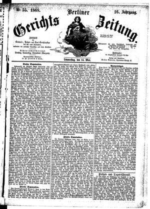 Berliner Gerichts-Zeitung vom 14.05.1868