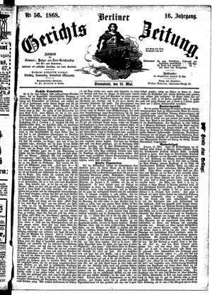 Berliner Gerichts-Zeitung vom 16.05.1868