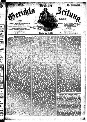 Berliner Gerichts-Zeitung vom 19.05.1868