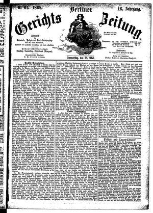 Berliner Gerichts-Zeitung vom 28.05.1868