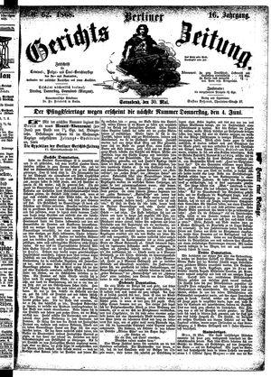 Berliner Gerichts-Zeitung vom 30.05.1868