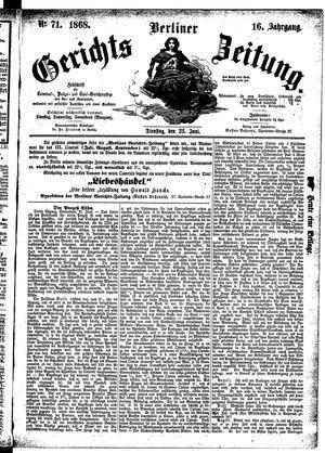 Berliner Gerichts-Zeitung vom 23.06.1868