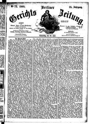 Berliner Gerichts-Zeitung vom 25.06.1868