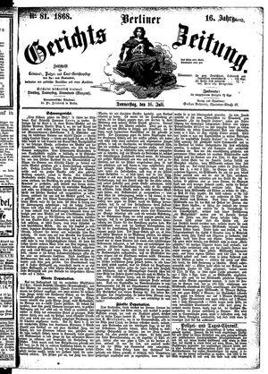 Berliner Gerichts-Zeitung vom 16.07.1868
