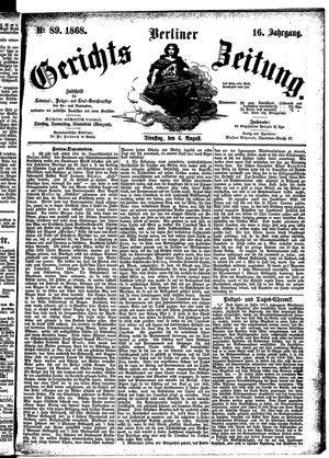 Berliner Gerichts-Zeitung vom 04.08.1868