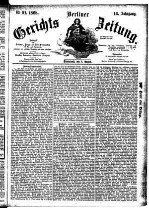 Berliner Gerichts-Zeitung vom 08.08.1868