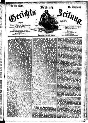 Berliner Gerichts-Zeitung vom 13.08.1868
