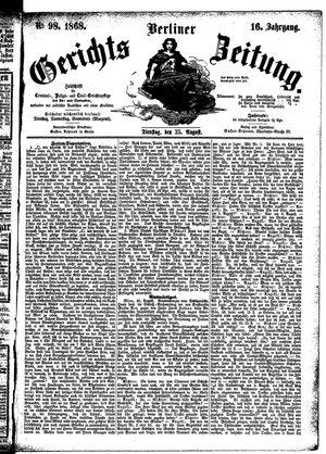 Berliner Gerichts-Zeitung on Aug 25, 1868