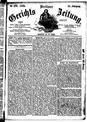 Berliner Gerichts-Zeitung vom 29.08.1868