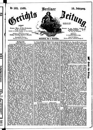 Berliner Gerichts-Zeitung vom 05.09.1868
