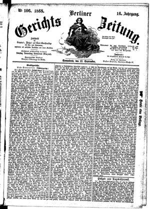 Berliner Gerichts-Zeitung vom 12.09.1868