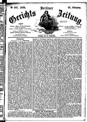 Berliner Gerichts-Zeitung vom 15.09.1868