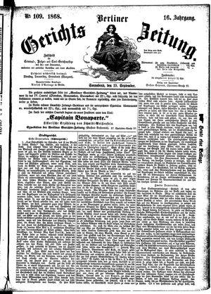 Berliner Gerichts-Zeitung vom 19.09.1868