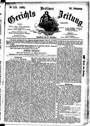 Berliner Gerichts-Zeitung vom 26.09.1868