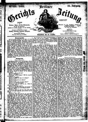 Berliner Gerichts-Zeitung on Oct 10, 1868