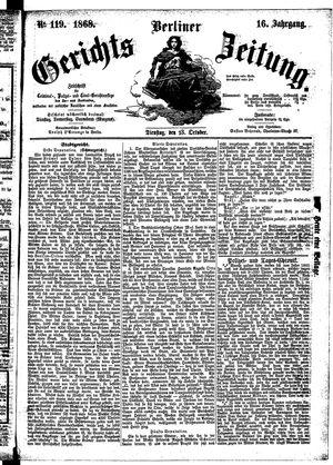 Berliner Gerichts-Zeitung vom 13.10.1868