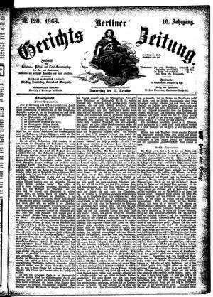 Berliner Gerichts-Zeitung vom 15.10.1868