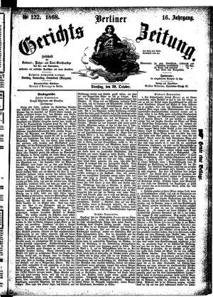 Berliner Gerichts-Zeitung vom 20.10.1868