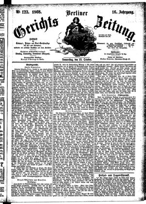 Berliner Gerichts-Zeitung vom 22.10.1868