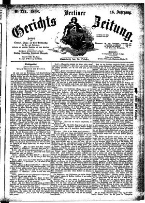 Berliner Gerichts-Zeitung vom 24.10.1868