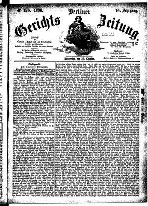 Berliner Gerichts-Zeitung vom 29.10.1868