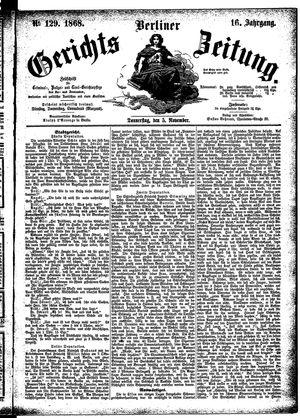 Berliner Gerichts-Zeitung vom 05.11.1868