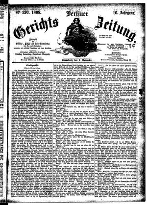 Berliner Gerichts-Zeitung vom 07.11.1868