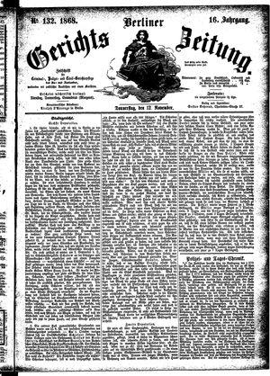 Berliner Gerichts-Zeitung vom 12.11.1868