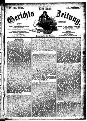 Berliner Gerichts-Zeitung vom 14.11.1868