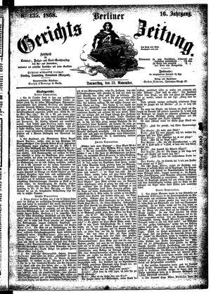 Berliner Gerichts-Zeitung vom 19.11.1868