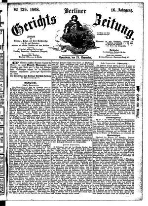 Berliner Gerichts-Zeitung on Nov 28, 1868