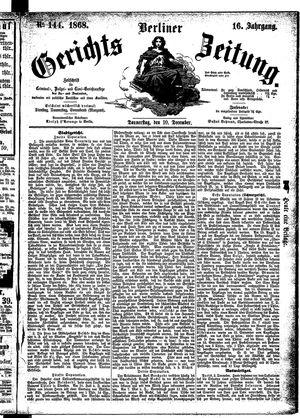 Berliner Gerichts-Zeitung on Dec 10, 1868