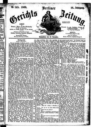 Berliner Gerichts-Zeitung vom 12.12.1868