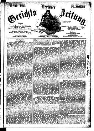 Berliner Gerichts-Zeitung on Dec 17, 1868