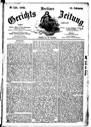 Berliner Gerichts-Zeitung vom 22.12.1868