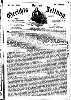 Berliner Gerichts-Zeitung vom 24.12.1868