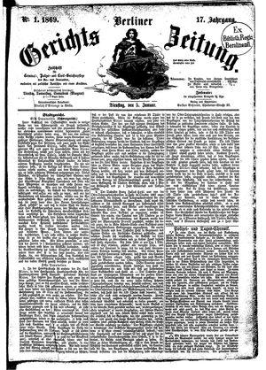 Berliner Gerichts-Zeitung vom 05.01.1869