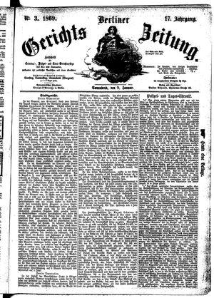 Berliner Gerichts-Zeitung vom 09.01.1869