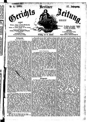 Berliner Gerichts-Zeitung vom 12.01.1869