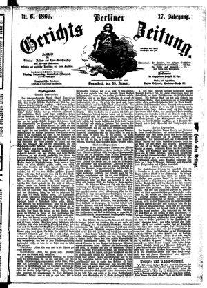 Berliner Gerichts-Zeitung vom 16.01.1869