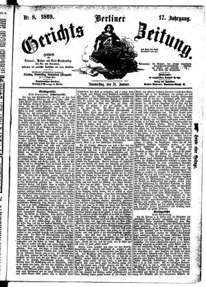 Berliner Gerichts-Zeitung vom 21.01.1869