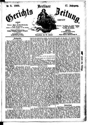 Berliner Gerichts-Zeitung vom 23.01.1869