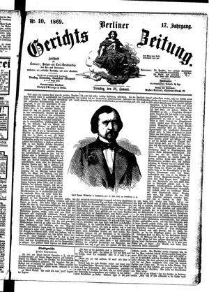 Berliner Gerichts-Zeitung vom 26.01.1869