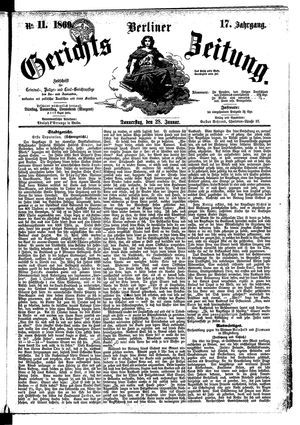 Berliner Gerichts-Zeitung on Jan 28, 1869